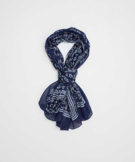 Indian scarf navy
