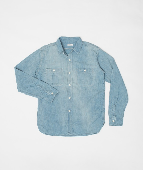 Triple Stitch Chambray blue