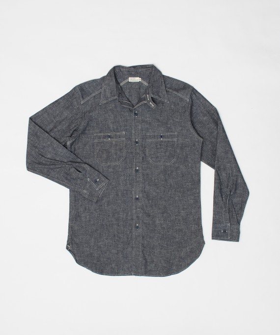 Chambray Shirt Chinstrap Navy
