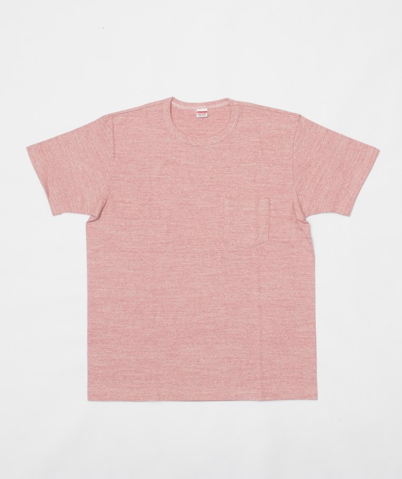 Rayon Cotton Pocket Tee Pink