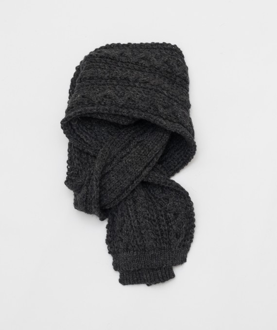 Twisted Scarf Charcoal
