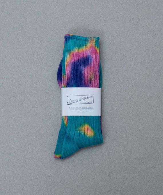 Blue Tie Dye Socks Anonymous Ism