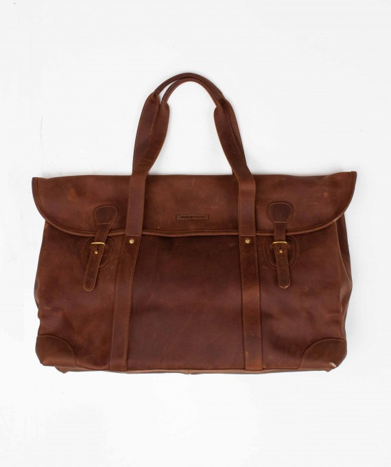 Large Weekender Leather