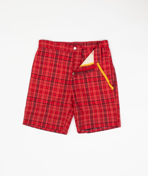 Madras Short Red