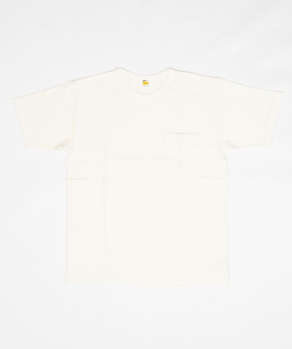 Heavy Weight Pocket Tee White