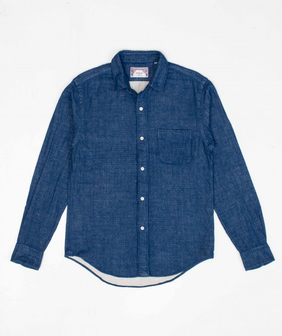 Panama Shirt Double Face Indigo