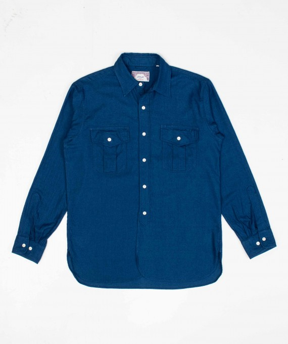 Winter Travel Shirt Indigo
