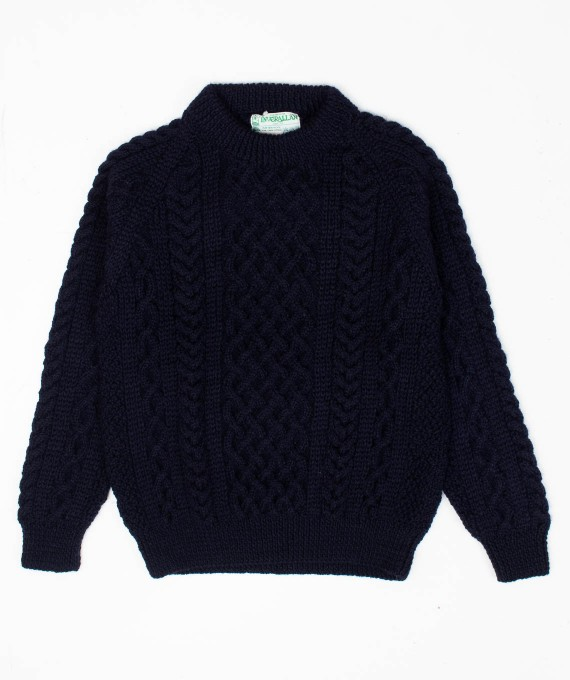 1A Aran Sweater Navy