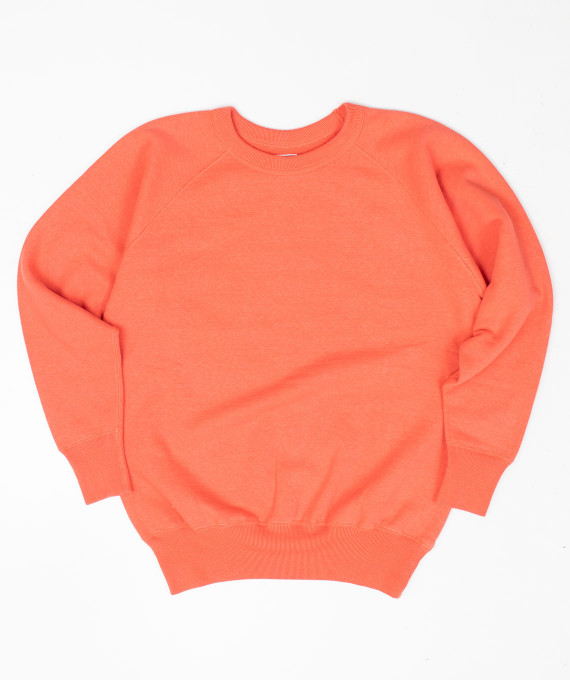 Sweat Raglan Plain Style Coral