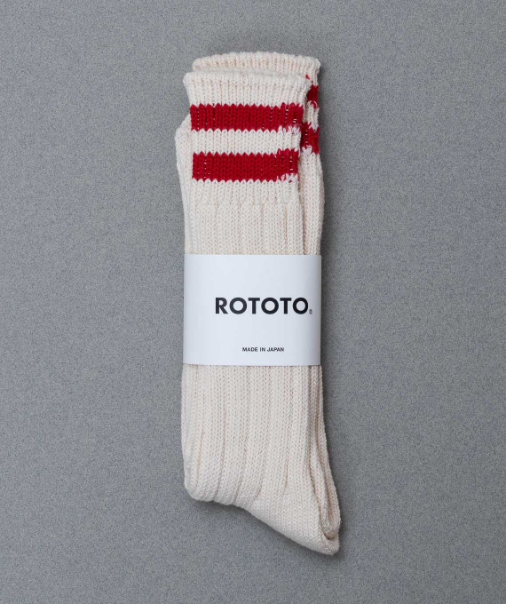 Stripe Crew Ecru/Red Rototo