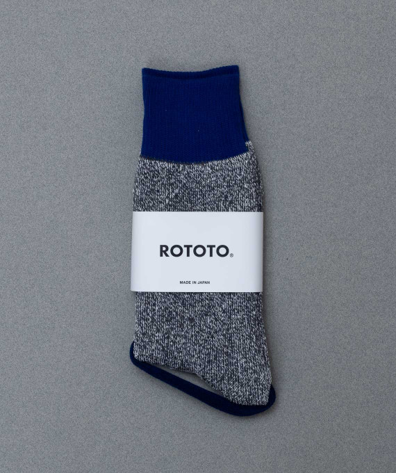 Double Face Silk Socks Blue/Gray