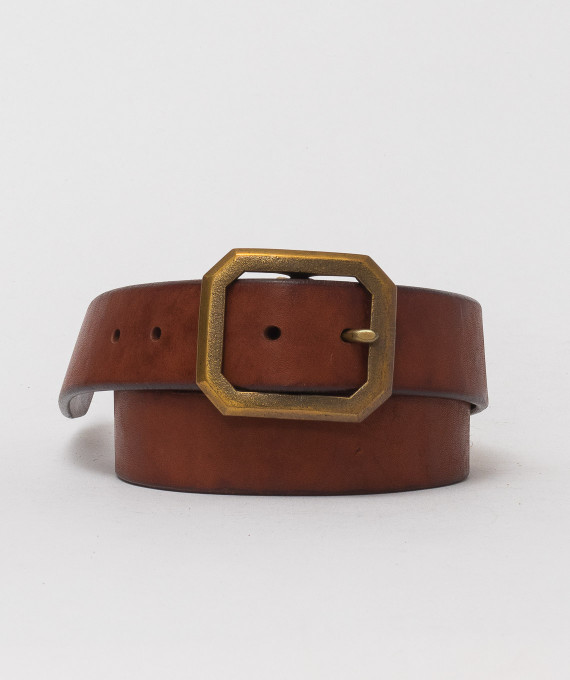 Handmade leather belt Bronze 5684