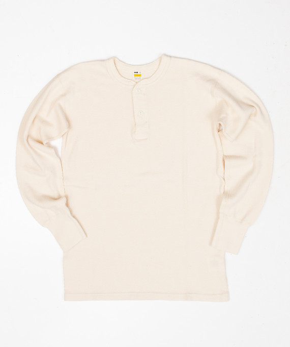 Henley Thermal Off White