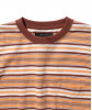 Stripe Tee 70's L Brown Beams Plus
