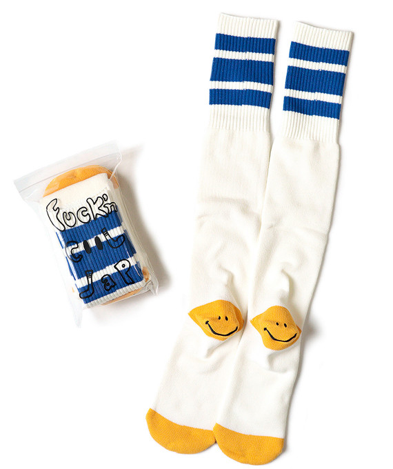 Skaters High Socks Blue KAPITAL