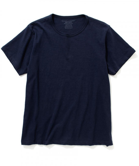 Cotton Summer Tee Navy The Real McCoys