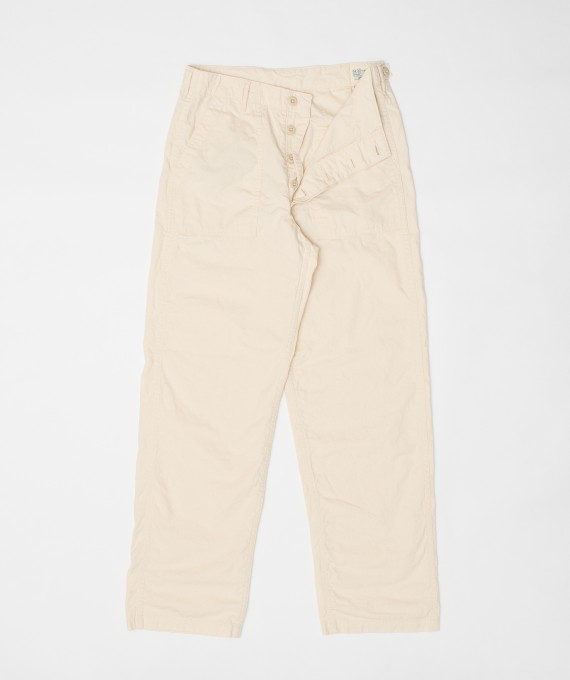 Fatigue Pants Regular Ecru orSlow