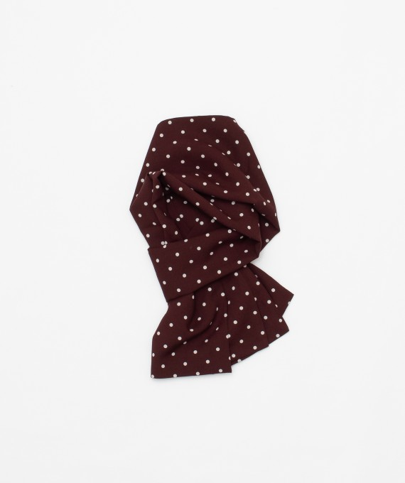 Rayon Polka Dot Scarf Burgundy The Real McCoy's